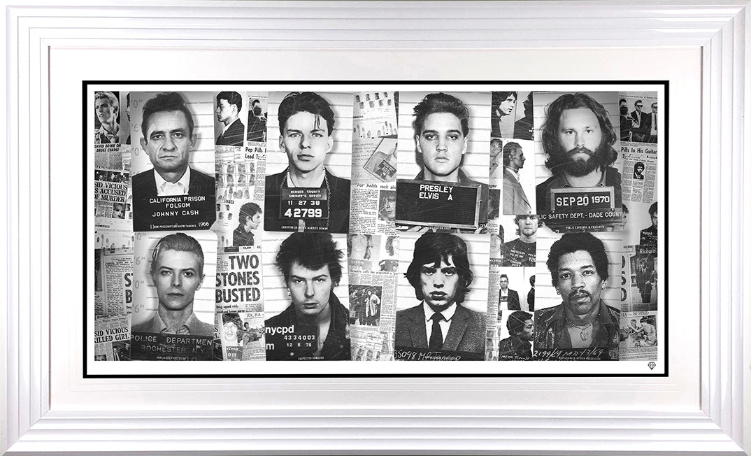 musics most wanted framed w