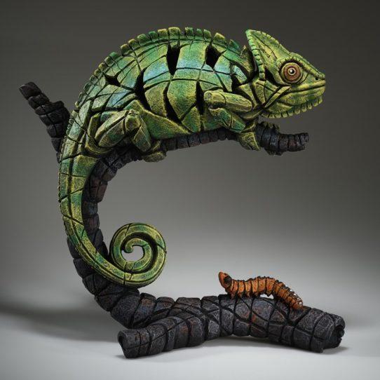 Chameleon (Green) by Edge Sculpture